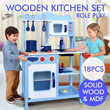 wooden kitchen pretend play set toy kids toddlers cooking home