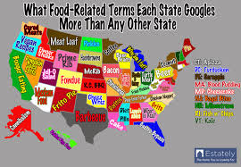 Portland Food Map by Each U S State U0027s Food Preferences Based On Its Internet Search