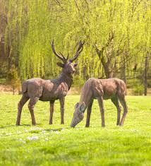 concrete deer statues for yard the best deer 2017