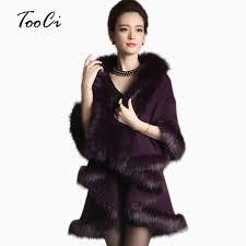 sweater with faux fur collar cape shawl cardigan sweater luxury faux fur collar