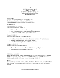 Resume In English Sample by Resume Simple Free Resume Example And Writing Download