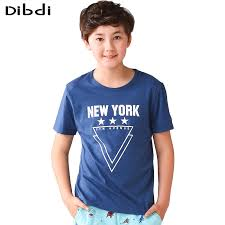 5 10 years boys t shirt summer children letter print t shirts for