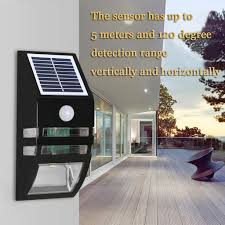 Porch Light Motion Sensor Adapter by Solar Power Led Security Wall Light Emergency Light Garden Garage