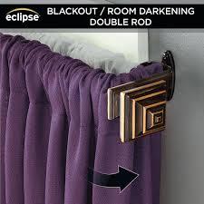 room darkening curtain rod eclipse 3 4 room darkening decorative window double curtain rod oil rubbed
