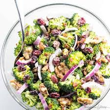 easy salad recipe easy broccoli cranberry salad recipe with bacon and walnuts