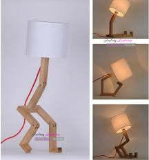 diy bedroom lampshade table lamp design original wood white fabric