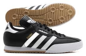 black samba samba football trainers classic black white adidas