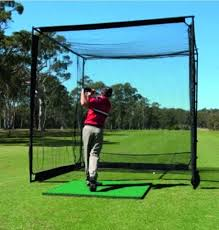 Backyard Golf Practice Net Pro Advanced Master Cage Golf Practice Net Steel Framed 3m X 3m