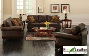 Brown Leather Living Room Set Appealing 3 Leather Living Room Set From The Roomplace At