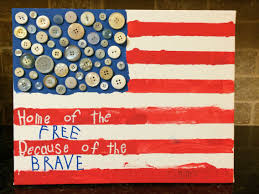 4th of july american flag canvas kids art with red white and blue