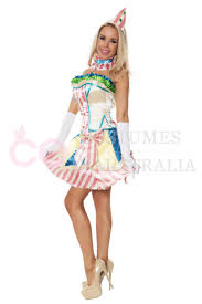 Birthday Halloween Costume Funny Clown Costume Circus Carnival Fancy Dress Birthday