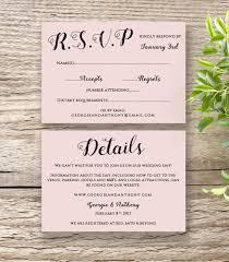 printable wedding invitation rsvp information templates modern