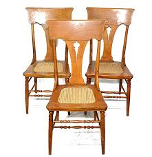 vintage oak cane seat dining chairs ebth