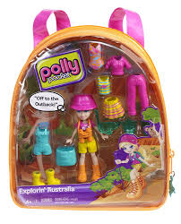 amazon polly pocket polly explorin australia travel backpack