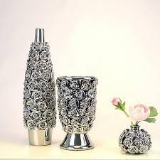 Modern Flower Vase 15 40 Cm Ceramic Gold Silver Vase Of Roses Decorated Modern Home