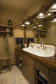 13 terrific rustic bathroom lighting modeling u2013 direct divide