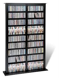 Black Dvd Cabinet Almacenamiento Mueble Para Colección De Cds Dvds Juegos Rm4