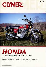 honda cb cj cl 250 360 service repair manual 1974 1977 m323