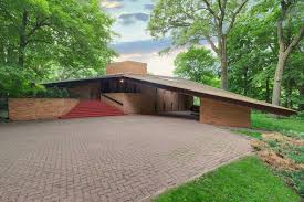 frank lloyd wright house in st louis park on the market for first