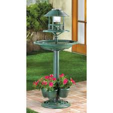 Bird Solar Lights by Birdbath And Planter In One With Solar Light