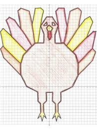 thanksgiving math turkey coordinate graphing picture tpt