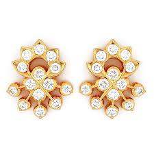 diamond ear studs earrings grt jewellers