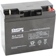 12 volt 18 ah sealed lead acid rechargeable battery with nut
