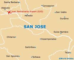 san jose costa rica on map san jose travel guide and tourist information san jose costa rica
