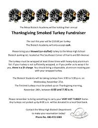 get your thanksgiving turkey smoked for a great cause