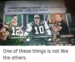 Drew Brees Memes - highest completion pct min 1500 passes nfl history thru2015week 3