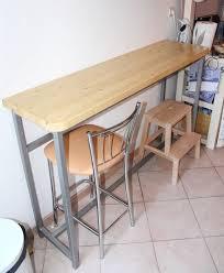 fabriquer une table haute de cuisine création d une table bar cuisine bâtir sa maison à moindre coût