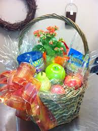 healthy gift basket healthy gift basket of assorted nuts apples and potted plant