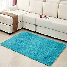 Teal Living Room Rug by Amazon Com Dense Pile Soft Teal Blue Shaggy Shag Area Rug 2 U0027 X 3