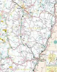 Vermont County Map East Central Vermont Map