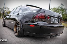 lowered lexus is300 rear diffuser fuzor aluminum