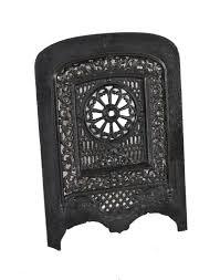 19th century american era black enameled ornamental cast