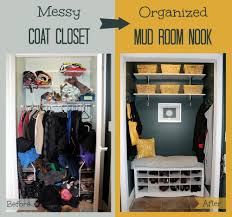heroth home messy closet turned organized mud room nook with