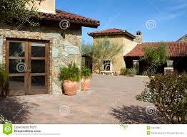 italian villa home and courtyard plaza stock photo image 13618630