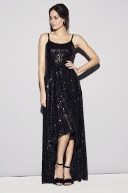 black dress company black sequin gown