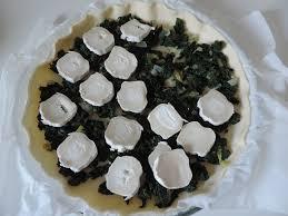 blanchir en cuisine tarte à la tétragone et chèvre la cuisine de ponpon rapide et