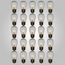 s14 clear medium based replacement light bulbs 11w 25 pack