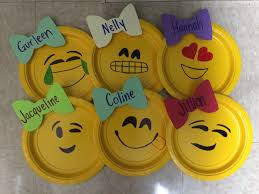 emoji door decorations really simple small yellow plates