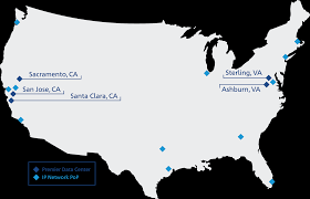 Virginia Usa Map by North America Colocation Data Centers Services Ntt America