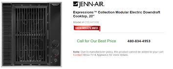 Jennair Electric Cooktop Jenn Air Electric Downdraft Cooktop 20