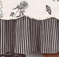 White Bed Skirt Queen Black White Ticking Stripe Queen Or King Bedskirt Dust Ruffle