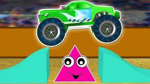 monster truck for children cartoon monster trucks for children learning shapes shapes lesson for