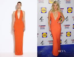 aq aq dresses aq aq mega orange halterneck maxi dress