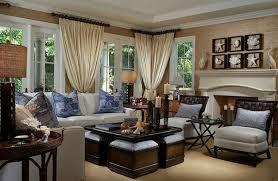 interior brown and blue living room curtains choosing curtain