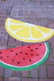 weekend project fruit welcome mats the house that lars built
