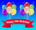 Image result for 10th birthday balloons